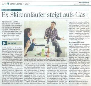 Zeitungsartikel Porträt Harald Pachner